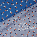 voile brushed drops